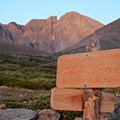 The junction for Boulder Mountain.- Longs Peak: Keyhole Route