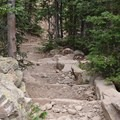 Typical trail conditions on the way up.- Longs Peak: Keyhole Route