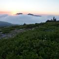 Sunrise along the route to Longs Peak.- Longs Peak: Keyhole Route