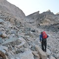 The Trough is a long, vertical climb across boulders. This section makes or breaks the hiker.- Longs Peak: Keyhole Route
