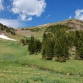 See Mount Blackmore on your right from the bottom of the cirque.- Mount Blackmore