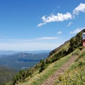 Steep grades and even better views of Hyalite Reservoir and the Gallatin Range in the distance.- Mount Blackmore