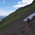 Trail footing is fairly secure given the steepness of the mountainside.- Mount Blackmore