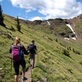Enjoy the wildflowers all along the trail through the cirque!- Mount Blackmore