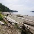 North Beach stretches for approximately 1 mile.- North Beach, Deception Pass State Park