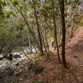 The trail to Whiskeytown Falls.- Whiskeytown Falls