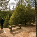 Multiple great places along the way to enjoy a rest.- Whiskeytown Falls