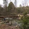 Bridge crossing on the way to Whiskeytown Falls.- Whiskeytown Falls