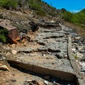 Example of how rocky and unstable the trail can be.- Piestewa Peak Summit Trail, Phoenix Mountain Preserve