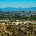 View of downtown Phoenix just a few miles south.- Piestewa Peak Summit Trail, Phoenix Mountain Preserve
