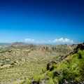 Great view of the contrast between the mountains and the city.- Piestewa Peak Summit Trail, Phoenix Mountain Preserve