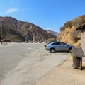 East Fork parking area and trailhead. Filling out a free wilderness permit at the trailhead is required.- Bridge to Nowhere / East Fork San Gabriel River Trail