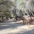 A group camping area near the beginning of the trail.- Bridge to Nowhere / East Fork San Gabriel River Trail