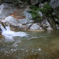 Small waterfalls and pools to cool down just beyond the bridge.- Bridge to Nowhere / East Fork San Gabriel River Trail