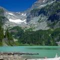 Columbia Glacier on other side of Blanca Lake.- Blanca Lake