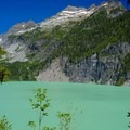 Blanca Lake from above the trail.- Blanca Lake