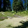 Meadows for camping near Blanca Lake.- Blanca Lake