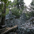 Cabin ruins abound along the lower half of the trail.- Icehouse Saddle via Icehouse Canyon