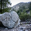 The Cucamonga Wilderness and its traces of past flash flooding and landslides.- Icehouse Saddle via Icehouse Canyon
