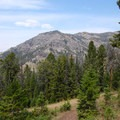 View of King Butte from the trail.- Big Horn Peak