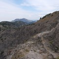 Steep drop-offs on both sides for about 20 feet.- Big Horn Peak