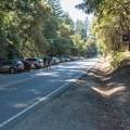 Looking north along Skyline Boulevard from the parking area for Indian Rock in Sanborn-Skyline County Park.- Indian Rock