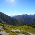 Views opening up as you begin to climb above the tree line.- Mount Baldy Summit via Ski Hut Trail