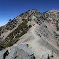 A view of the Devils Backbone.- Mount Baldy Summit via Devils Backbone Trail