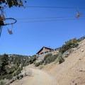 Baldy Notch consists of a ski area with a year-round restaurant.- Mount Baldy Summit via Devils Backbone Trail