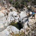 Overlooking the swimming hole at Hermit Falls.- Hermit Falls