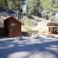 Trailhead parking area at the far end of Buckhorn Campground.- Cooper Canyon Falls