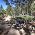 A bench at the trailhead.- Cooper Canyon Falls