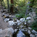 A stream crossing at the bottom of the canyon.- Cooper Canyon Falls