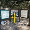Self pay station near campground entrance.- Manker Flats Campground