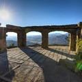 Overlooking the Santa Barbara mountains toward the coast.- Knapp's Castle