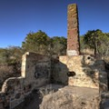 One of several ruins at the castle.- Knapp's Castle