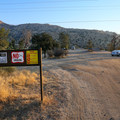Parking area for Remington Hot Springs.- Remington Hot Springs