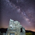 Clear night skies over the mountains.- Knapp's Castle