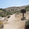 Signage en route to Deep Creek Hot Springs.- Deep Creek Hot Springs