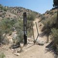 Entrance gate/boundary for San Bernardino National Forest.- Lower Deep Creek Canyon + Warm Springs