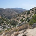 First view of Deep Creek Canyon cut by the East Fork Mojave River.- Lower Deep Creek Canyon + Warm Springs