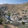 Deep Creek Canyon at Deep Creek Warm Springs.- Lower Deep Creek Canyon + Warm Springs