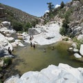 Aztec Falls swimming hole above the falls.- Aztec Falls Swimming Hole