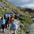Torres del Paine attracts trekkers from all over the world.- The W Trek