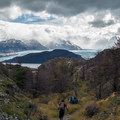 The approach to Glaciar Grey in Torres del Paine National Park, Chile.- The W Trek