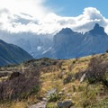 The approach to the Cuernos del Paine from Paine Grande.- The W Trek
