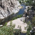 Swimming holes and beach on the East Fork Mojave River, Deep Creek Canyon.- Upper Deep Creek Canyon to Devils Hole