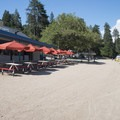 The concessions building at Lake Gregory Regional Park is open all summer.- Lake Gregory Regional Park