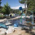 Splash pad at Lake Gregory Regional Park.- Lake Gregory Regional Park