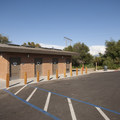Restroom facilities at Mesa Campground.- Silverwood Lake State Recreation Area